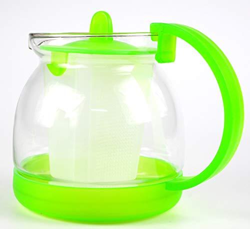 Sanfor Jarra para infusiones con filtro | Tetera para tea transparente | Resintente al calor | Para microondas | Talla unica