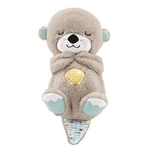 LEYU - Schlummer Otter Spieluhr Aus Plüsch Beruhigender Musik, Licht Und Atembewegungen, Einschlafhilfe Für Babys, Ab Der Geburt