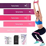 Resistance Band Sets(5 pcs), Mini Exercise Bands for Butt, Leg, Thigh, 5 Strength Levels Workout Band, Resistance Loops for Exercise, Fitness & Workout, Therapy Bands Set with Manual & Carry Bag