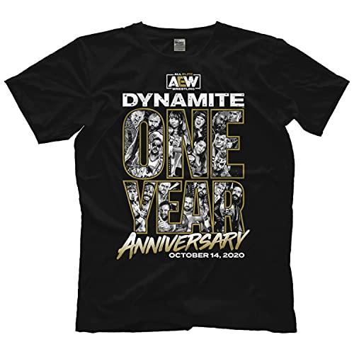 Shirt Aew Dynamite - One Year Anniversary T Shirt Tee T-shirt Long Sleeve Sweatshirt Hoodie Customize