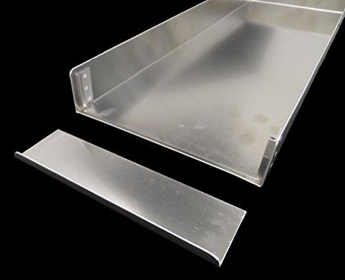 2 Stk. Schnittenbleche 58,5x20x5cm Backbleche, Kuchenbleche aus Alu