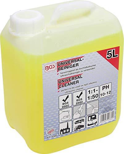 BGS 9380 | Universal-Reiniger | 5 l | Reinigungsmittel für Hochdruckreiniger und Ultraschallreiniger