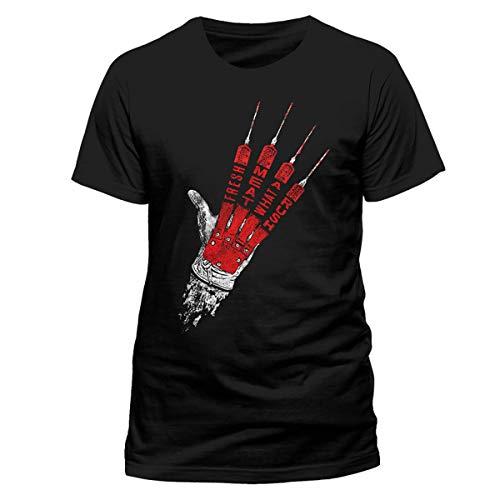Nightmare on Elm Street Freddy Krueger Hand offiziell Männer T-Shirt Herren (Large)