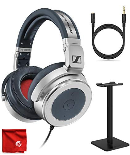 Sennheiser HD 630VB HiFi Circumaural Closed Portable Audiophile Metal Over-Ear Variable Bass Headphone Bundle with Headphone Stand and 3.5mm Extension Cable
