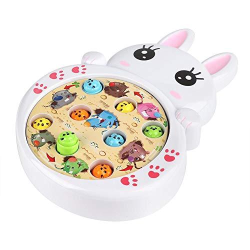 Juguete musical de plástico no tóxico, juguete de rompecabezas, para la familia hogareña(Bunny)