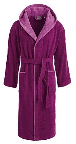 Egeria CAIRO Unisex Bademantel mit Kapuze für Damen und Herren, Farbe Vivid Pink, Größe XL