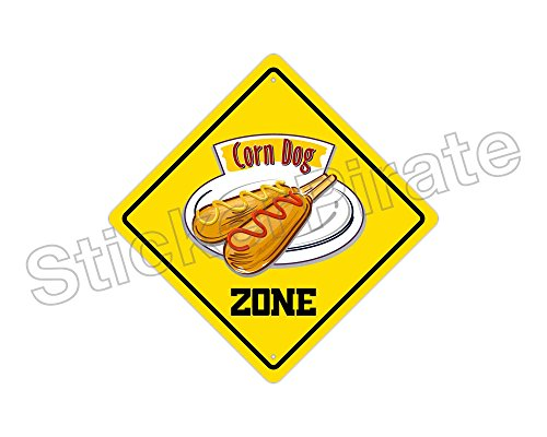 Corn Dog Zone Metal Novelty Sign