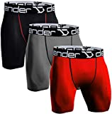 Defender Men's 3Pack Compression Shorts Underlayer Cool Dry Sports Tights Fits Cold Soccer