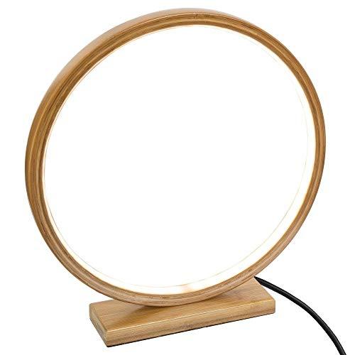 Atmosphera - Lampe Ronde à LED en Bambou D 32 cm