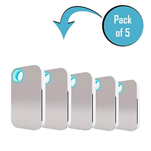 Air Genie Revolutionary Plug in Air Freshener - Filterless Air Ionizer - Modern Design Odor Eliminator for Bathroom, Bedroom Kitchen, Closets, Basements and More (5 Pack)