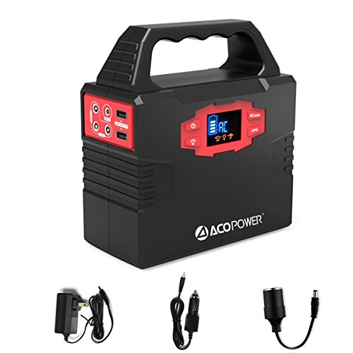 ACOPOWER 150Wh 40,800mAh Portable Generator Power Supply, CPAP Battery Pack with AC Power Inverters 110V, USB Ports, DC 12V, Charged by Wall Outlet/Solar Panels/Car