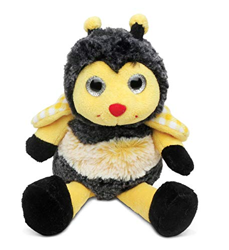 DolliBu Plush Honeybee Stuffed Animal - Soft Fur Huggable Yellow Bee, Adorable Playtime Honeybee Plush Toy, Cute Insect Cuddle Gift, Super Soft Plush Doll Animal Toy for Kids & Adults - 7 Inch