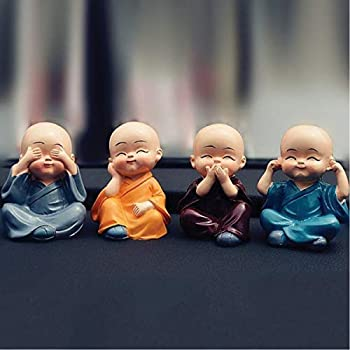 Tirupati99™ Colourful 4 Baby Monks Figurines (Buddha)