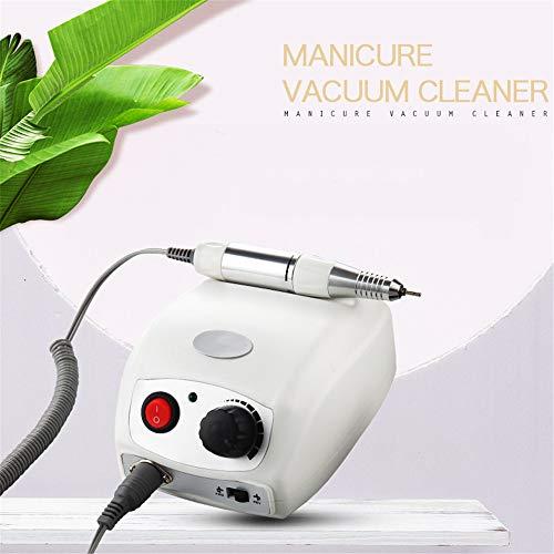 Elektrisch nagel boren 35000 omw/min nagel kunst polijsten set met pedaal snelle manicure pedicure kit voor acrylgel nagels professioneel nagelvijlgereedschap onderhoud van handen voeten, wit