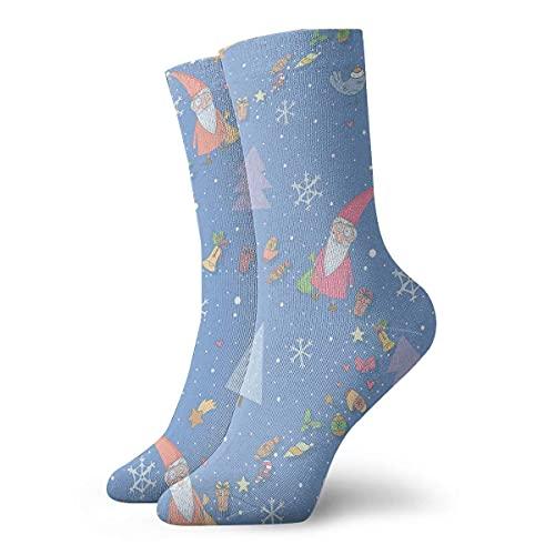 LAVYINGY Guantes de árbol de copo de nieve de Santa Claus para hombres y mujeres de moda lindo novedad divertido casual arte Crew calcetines