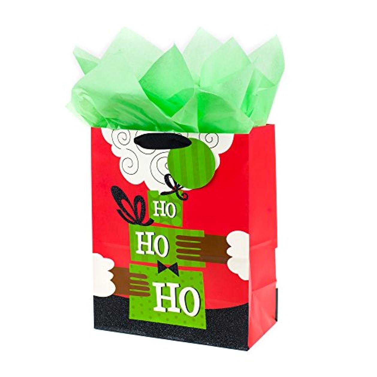 Hallmark Mahogany Large Christmas Gift Bag with Tissue Paper (Ho Ho Ho) ogsjr3592
