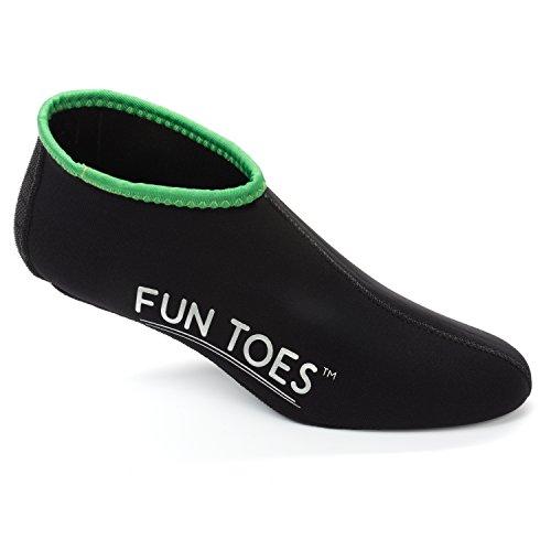 FUN TOES Neoprene Socks for Water Sports for Women & Men - 2 Pairs of Snorkel Fin Socks for Scuba Diving, Snorkeling, Paddling, Boarding, Jetskiing & More 2.5MM (Black, L Men 9-10.5 Women 10.5-12)