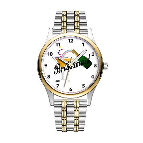 Personalisierte Minimalistische Bridesmaid Champagne Toast Wristwatch Goldene Fashion wasserdichte Sportuhr