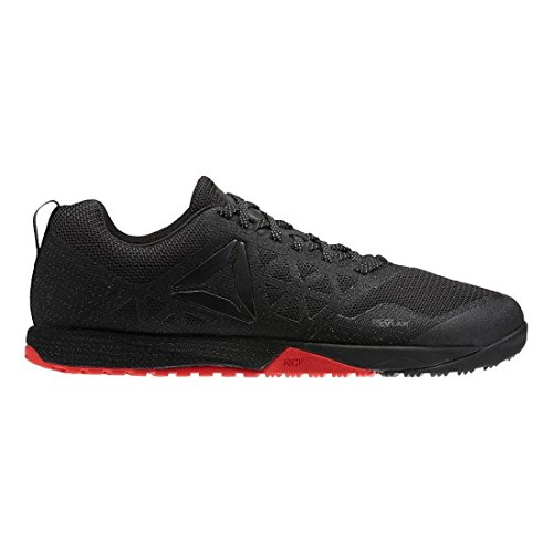 Reebok Men's Crossfit Nano 6.0 Cross-Trainer Shoe (9, Covert Stealth-Red-Black Reflective)