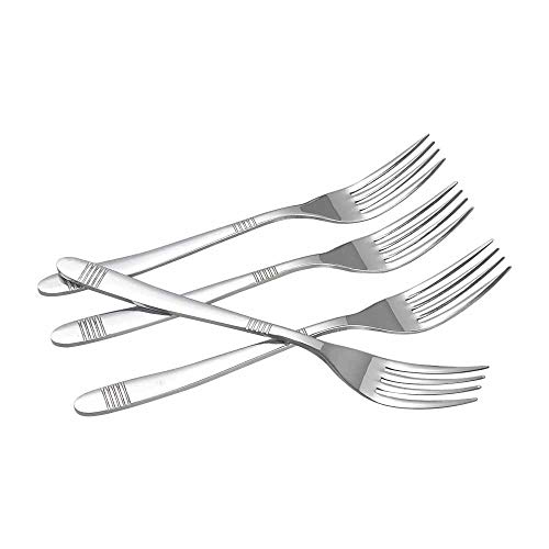 Callyne - Forchette da cucina in acciaio INOX, 12 pezzi