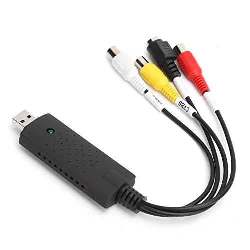 Deansh Tarjeta de colección de Video, convertidor de Video portátil USB 2.0 NTSC/PAL para Windows XP/para Vista / 7/8/10 / para Linux, Compatible con visualización de Pantalla Completa