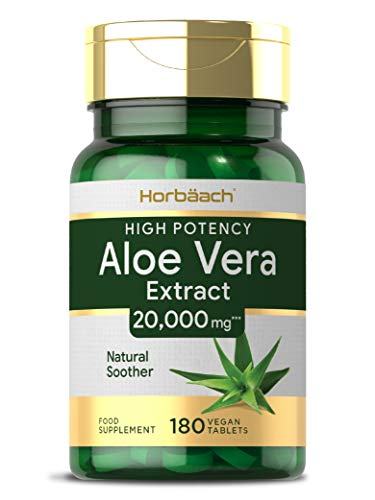 Aloe Vera 20,000mg | 180 Vegan Tablets | Natural Soother | Non-GMO, Gluten Free Supplement