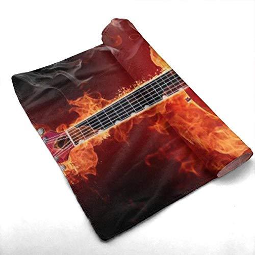 Toalla de baño de algodón de Lujo Rock Guitar Hotel 30 x 70, Juegos de baño Suaves Tipo SPA, de Secado rápido, Toallas de Ducha extragrandes extragrandes