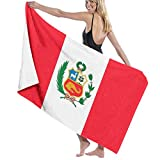rtuuruyuy Toallas de baño Toalla de Playa Peru's National Flag Large Soft Bed Beach Towel Sheet Bath Set Bathroom Accessories