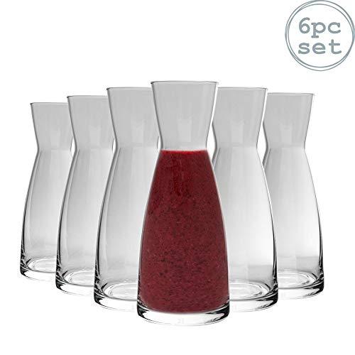 Bormioli Rocco Ypsilon - Wasserkaraffe aus Glas - 550 ml - 6 Stück