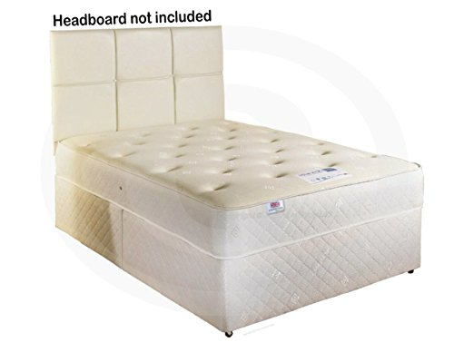 Cooltouch Divan Bed 10' Deep Spring Memory Foam Mattress with 4 Drawers 5ft King Size