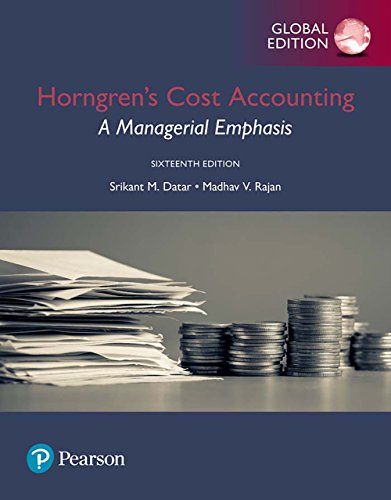 Horngren's Cost Accounting: A Managerial Emphasis, Global Edition (English Edition)