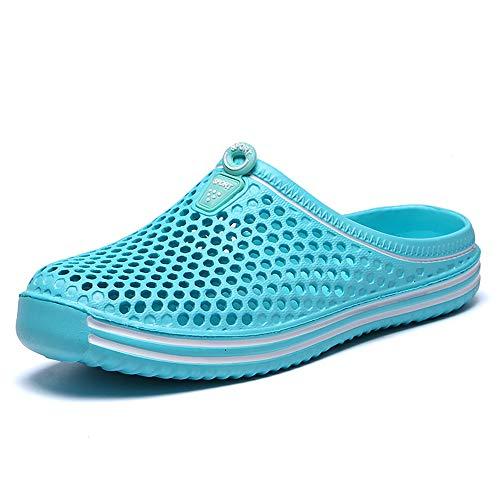 HVSLXM Slippers Zomer Ademend EVA Mesh Flip Flop Strand Sandalen Outdoor Schoenen Mannen Vrouwen Unisex Slip-On Lichtgewicht Sneldrogende Tuin Klomp Schoenen, Blauw, 8