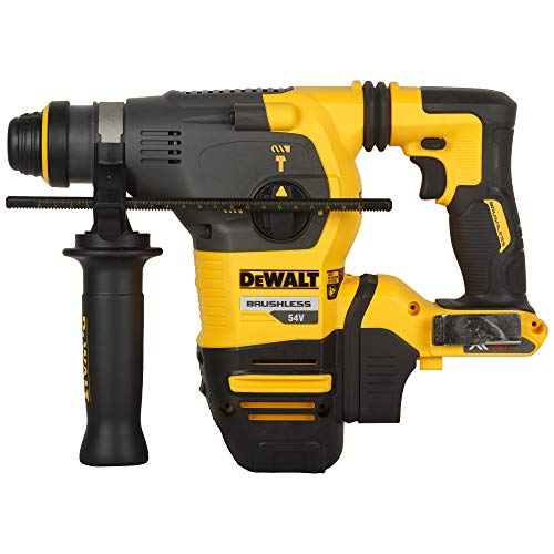 Dewalt DCH333NT-XJ XR Flex Volt SDS-Plus Bare Hammer, 1 W, 54 V, Yellow/Black, Unit, No Battery or Charger