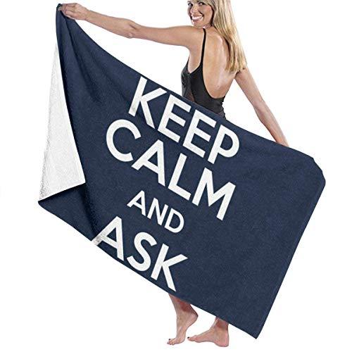 N \ A Bodger and Badger Keep Calm Bath Towel Premium Co Bathroom Towel.Soft,Plush and Highly Absorbent