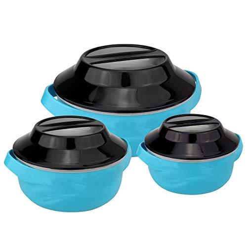 WELLGRO Thermoschüsselset, 1500 ml, 1000 ml und 500 ml, mikrowellengeeignet