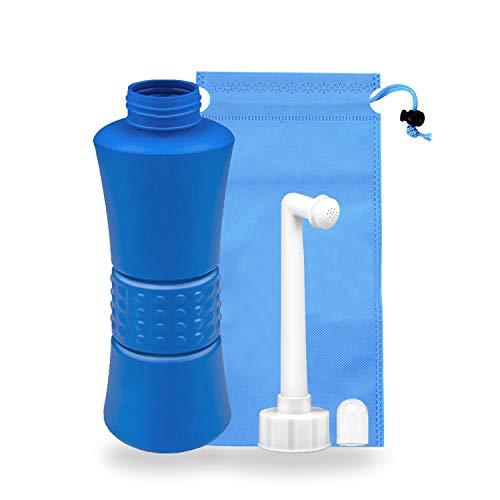 YumSur Tragbares Bidet, 500ml Portable Bidet Sprayer für Persönliche Reiniger Hygiene, Reisen, Kindergeburt, Outdoor, Camping, mit Aufbewahrungstasche