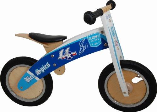 KIDDIMOTO Kids Hero Kurve Holz Balance Bike, Herren, Ben Spies - Elbowz, 10-18 Inch