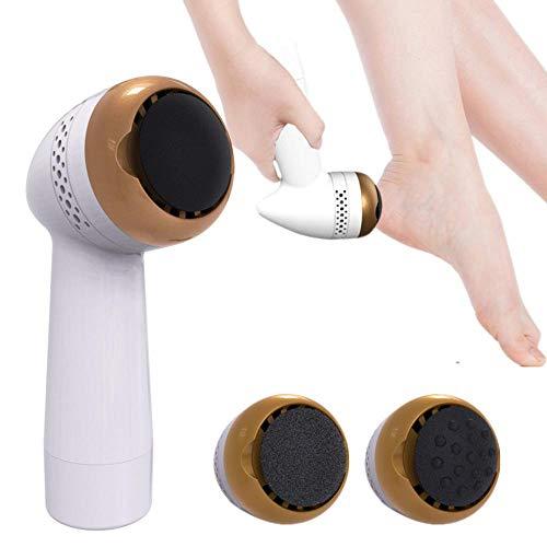 LNLJ - Lima electrónica para pies (recargable, con USB, 2 cabezales profesionales para el cuidado de los pies y 1 cabezal de masaje para talones muertos, agrietados y piel dura