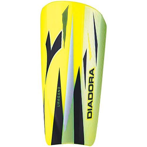 Diadora Uragano Soccer Shinguards, Yellow/Black, M