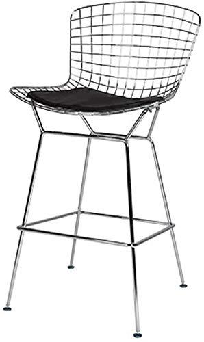 ghuanton Personalisierte Bar Stuhl Restaurant Kreative Hoch Hocker Bertoia Stuhl,Black