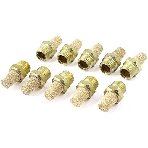 10 Stück 1/4 PT Gewinde Pneumatik, Auspuff Schalldämpfer Muffler goldfarben de
