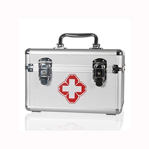Zoavash Haushalt Medizin-Kasten Aluminiumlegierung Medizin-Kaste Im Freien Beweglichen Multi-Layer-Erste-Hilfe-Box In Verschiedenen Größen Hyococ (Size : 290×190×160mm)