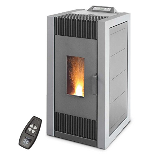 Pelletofen 10 kW Blaze ES 12, Farbe:grau