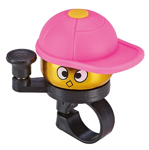 Prophete Kinder Kinderrad-Glocke golden mit bunter Kappe, pink, M