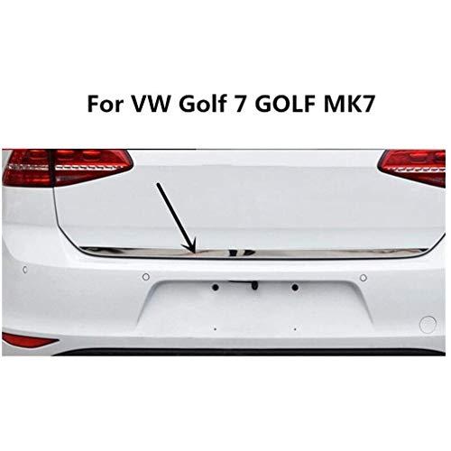 Coche Acero Inoxidable Protección Parachoques Trasero Molduras Decorativas, para Volkswagen VW Golf 7 Golf MK7 Car Styling Accessories, Rear Guard Bumper Protector Trunk Stickers
