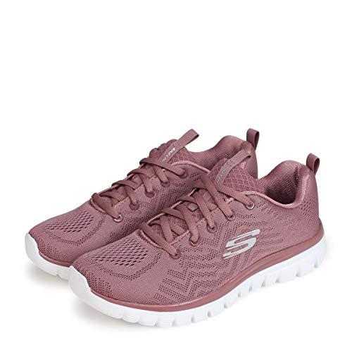 Skechers Graceful Get Connected, Zapatillas Mujer, Pink, 39.5 EU