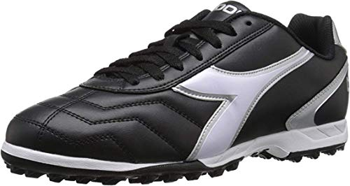 Diadora Men's Capitano TF Turf Soccer Shoes (10.5, Black/White)