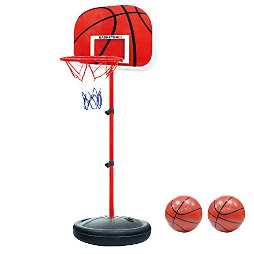 Canestro Basket, PELLOR Canestro Bambini Altezza Regolabile Posteriore con Cerchio per Bambini (150cm)