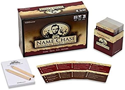 GeoToys Name Chase Historical Figures - History Trivia Game and Kids Learning Game for Kids - Clue Game to Play for Points -Trivia for Kids and Curious Grünups Too