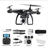 HXYL Drone avec Caméra pour Adultes, Photographie aérienne d'appareil-Photo aérien de caméra, Drone aérien à télécommande Se Pliant Haut Quatre Axes,Black